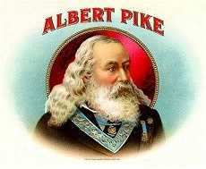 Albert Pike Mason cigar label