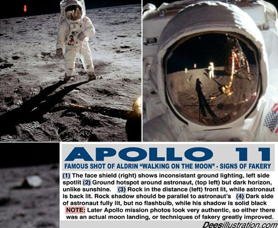 Faked Aldrin walking on Moon