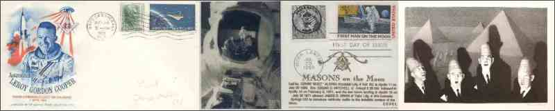 Leroy Gordon Cooper's Masonic envelopes