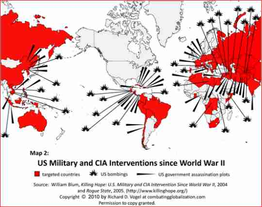 US military/CIA interventions since WWII
